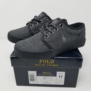 Polo Ralph Lauren Child's Ethan Low Gray Sneakers